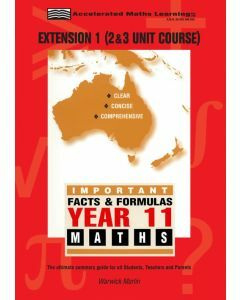 Facts and Formulas Year 11 Extension 1 (2&3 Unit) (old syllabus)
